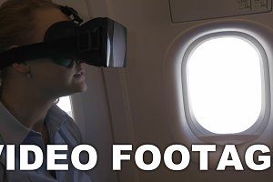 Woman exploring virtual
