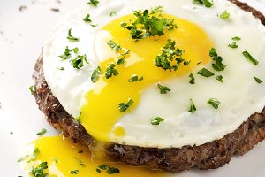 Beef Steak with fried egg