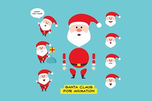Cartoon character Santa Claus.