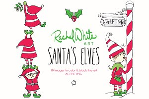 Santa's Elves, Vector & PNG