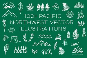 100+ PNW Vector Illustrations