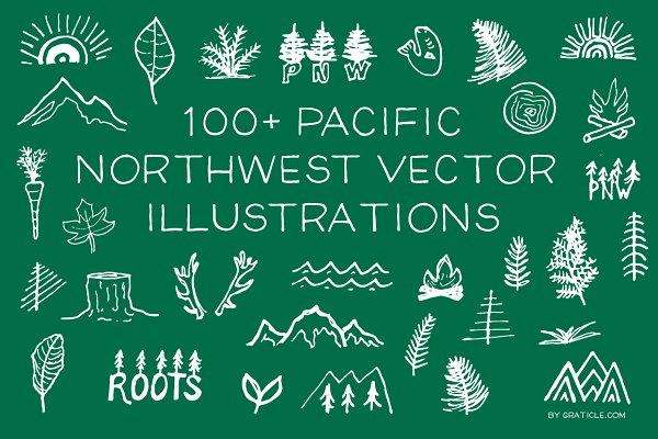 100+ PNW Vector Illustrations