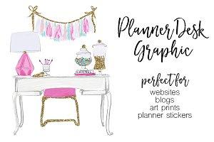 Planner Desk Clipart