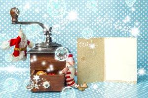 Christmas cards, empty postalcard