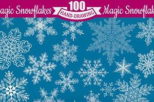 **100** Snowflakes **SET**