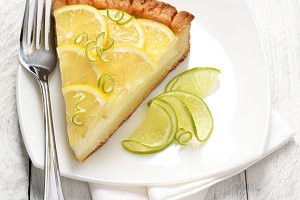 Citrus cheesecake slice