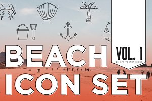 BEACH ICON SET VOL. 1
