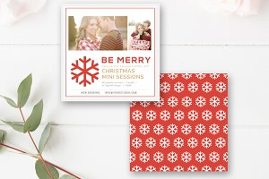 5x5 Christmas Mini Session Template
