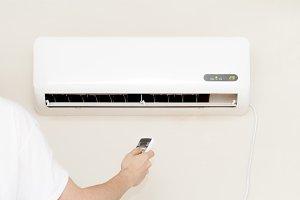 man air conditioner unit indoors