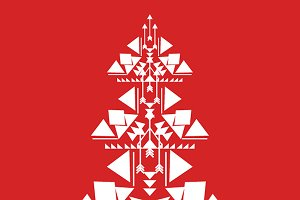 Vector hipster christmas tree