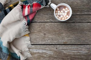 Blanket & Hot Chocolate Stock Image