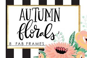 Autumn Florals Frames
