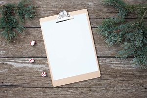 Christmas Clipboard Stock Image