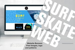 Surf Skate Website Banners