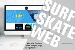 Surf Skate Website Banners