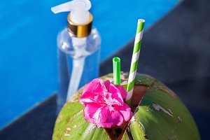 Fresh coconut juice and oil