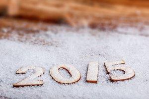 2015 year wooden figures