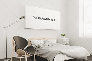 Canvas Mockup Bedroom Interior