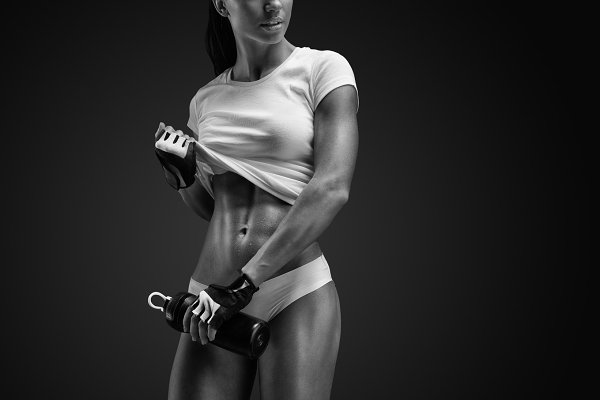 Fitness woman in sports clothing