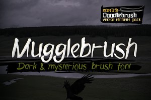 Mugglebrush hand-brushed font