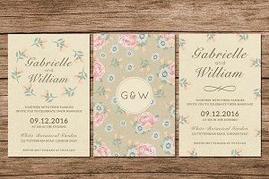 (42% OFF) Floral Wedding Invitation