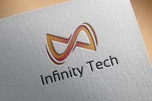 Abstract 3D Infinity Technology Logo