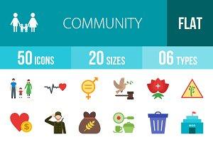 50 Community Flat Icons