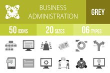 50 Business Admin Greyscale Icons