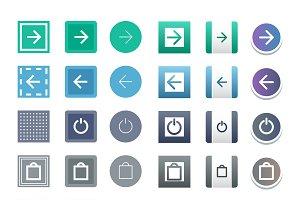 Web elements site buttons vector