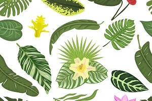 Nature flowers pattern vector