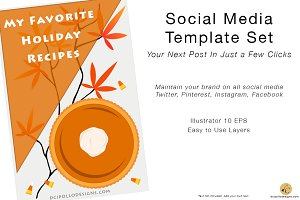 Social Template Set - Pumpkin Pie