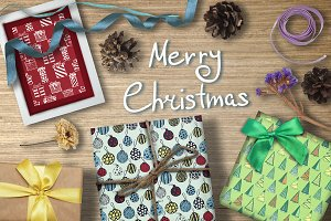 Christmas seamless patterns