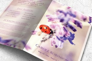 Ladybug Funeral Program Template