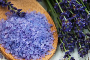 Lavender and massage salt