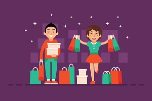 Shopping Illustration Clipart