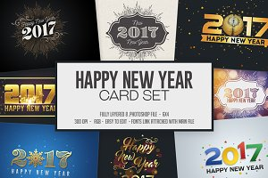 Happy New Year Card / Invitation Set