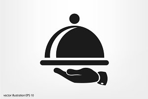 platter icon vector