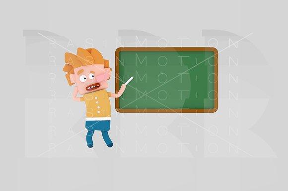 3d illustration. Kid school board. - Illustrations