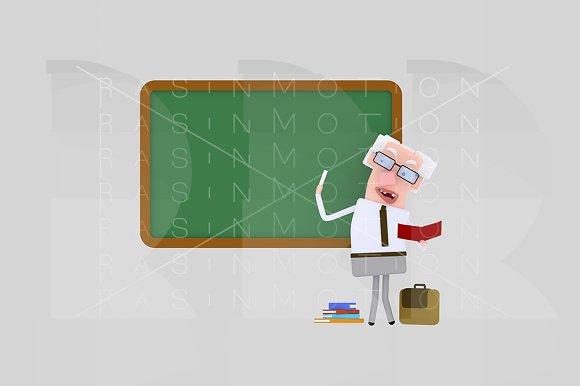 3d illustration.Teacher school board - Illustrations