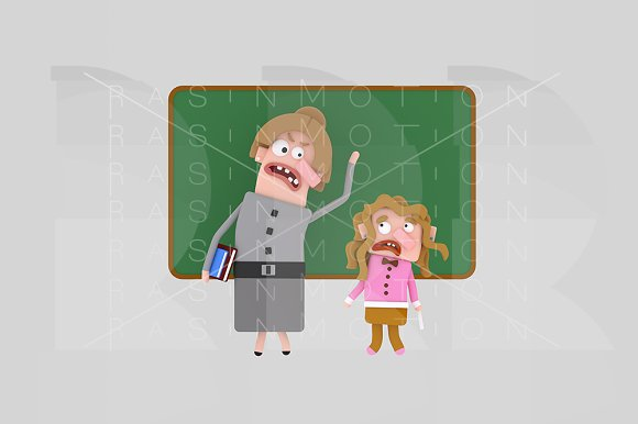 3d illustration. Teacher shouting. - Illustrations