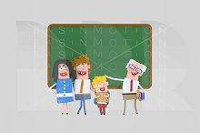 3d illustration. Teacher proud.