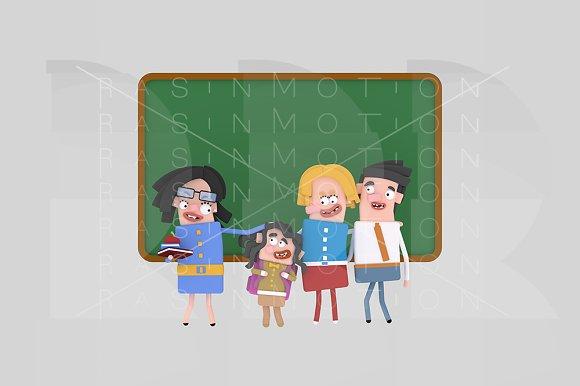 3d illustration. Teacher proud. - Illustrations