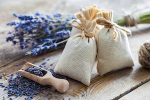 Lavender flowers and sachets