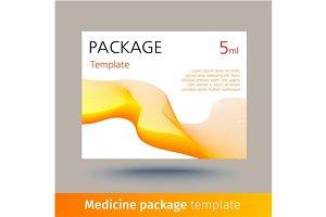 Medicine package template.