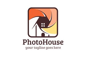 Photo House Studio Logo Template