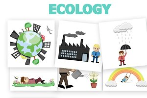 40+ Ecology Concept Vector Cartoons