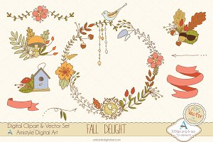 Fall Delight Clipart&Vector