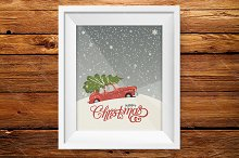 Christmas greeting card. New Year