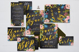 Black Floral Wedding Suite