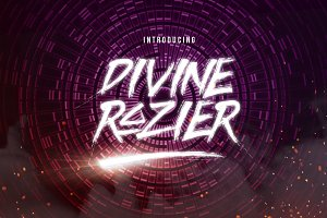 Divine Razier Font+Extra (50% OFF!)